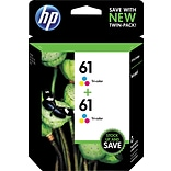 HP 61 Tri-color Original Ink Cartridges, 2 pack (CZ074FN)