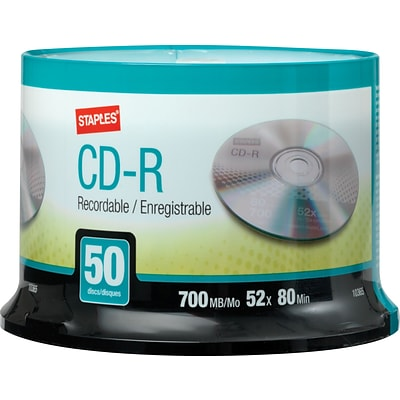 10365 700MB CD-R, Spindle, 50/Pack