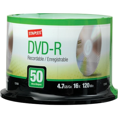 4.7GB DVD-R, Spindle, 50/Pack