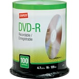 4.7GB DVD-R, 100/Pack