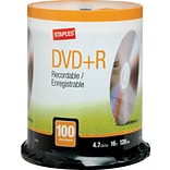 Staples 4.7GB DVD+R, 100/Pack