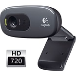 Logitech C270 HD 720p Computer Webcam with Microphone (960-000694)