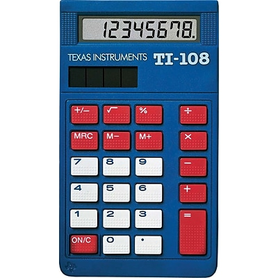Texas Instruments TI-108 Display Calculator, 10-Pack