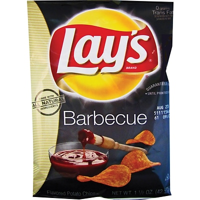 Lays® Barbecue Potato Chips, 1.5 oz. Bags, 64 Bags/Box