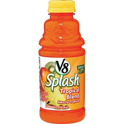 V8® Splash® Tropic Blend Juice Drink, 16 oz. Bottles, 12/Pack
