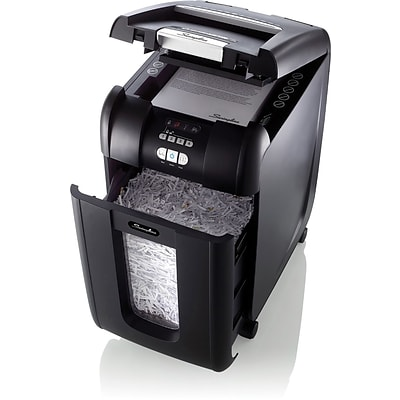 Swingline® SmarTech 300 Sheet Super Cross-Cut Auto Feed Shredder, Stack-and-Shred, Black