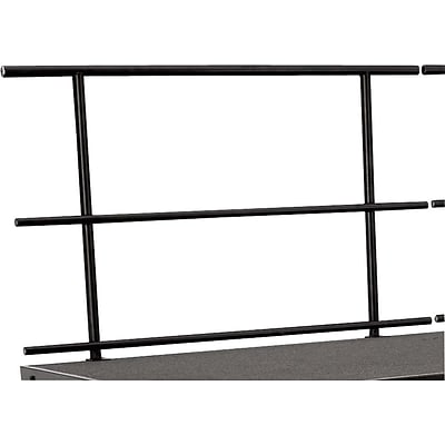 National Public Seating Stage Guardrail, Black, 34H x 48W x 2D