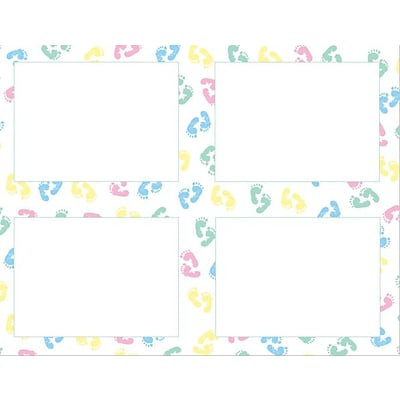 Great Papers® Baby Feet 4-up Postcards, 10/Pack
