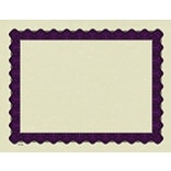 Masterpiece Studios® Parchment Certificate Paper, Metallic Purple Border, 100/Pack