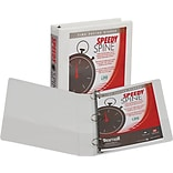 Samsill Speedy Spine™ Time Saving / Easy Spine Label Inserting 3 Ring View Binder, 1.5 Inch Round Ri