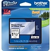 Brother® 1-1/2 Black Lettering on Clear Tape