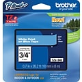 Brother® TZe-545 P-Touch® Label Tape, 3/4 White on Blue