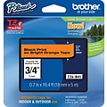 Brother® TZe-B41 P-Touch® Label Tape, 3/4 Black on Flourescent Orange