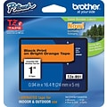 Brother® TZe-B51 P-Touch® Label Tape, 1 Black on Flourescent Orange