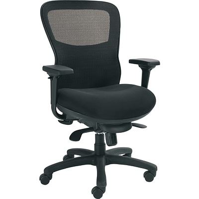 Offices To Go® Executive Chair, Mesh, Black, Seat: 22 1/2W x 19 - 21 1/2D, Back: 20W x 23H