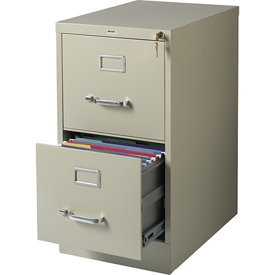 2-Drawer Vertical File Cabinet, Letter-Size, Putty, 22 Deep (17784)