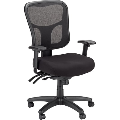 Tempur-Pedic TP8000 Mesh Computer and Desk Office Chair, Black, Fixed Arm (TP8000)
