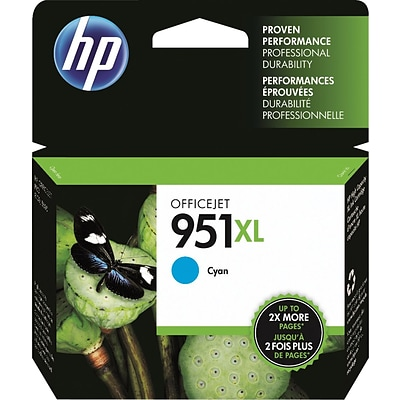 HP 951XL Cyan Ink Cartridge, High Yield (CN046AN)