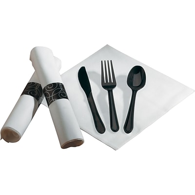 Hoffmaster Pre-rolled Dinner Napkin & Heavyweight Cutlery