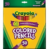 Crayola® Assorted 50/Box Colored Pencils