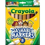 Binney & Smith Crayola® Multicultural Washable Broad Line Markers, Conical Tip, Assorted Color, 8/Bx