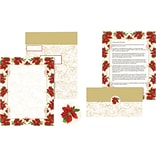 Great Papers® Holiday Mailer Poinsettia Swirl , 50/Count