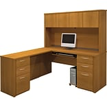 Cappuccino Cherry L-Shaped Workstation