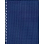 Rediform® Twin Wirebound Poly Cover Notebook, 11 x 8 1/2, Blue