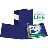 Samsill Clean Touch Anti-Microbial Locking Round Ring Storage Binder, Blue, 575-Sheet Capacity, 4 (