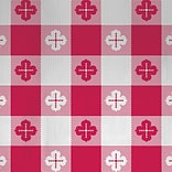 Hoffmaster Poly Tablecover; Red Gingham