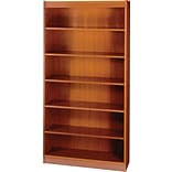 SAFCO Workspace Square Edge Veneer 6-Shelf Bookcase, Cherry