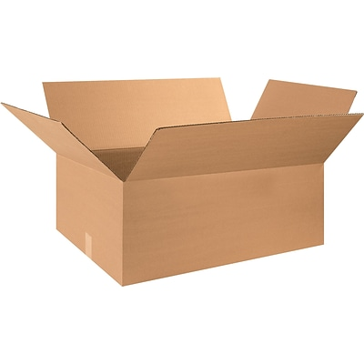 28(L) x 20(W) x 12(H) Shipping Boxes, 32 ECT, Brown, 15/Bundle (282012)