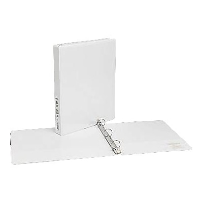 1 Simply™ View Binders with Round Rings, White, 12/Pack