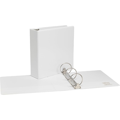 Simply® View Economy Binders with Round Rings, White, 3