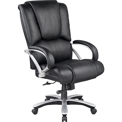 Quill Bosworth Bonded Leather Big and Tall Managers Chair, Black