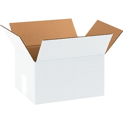 10(L) x 8(W) x 6(H) Shipping Boxes, 32 ECT, White, 25 /Bundle(1086W)