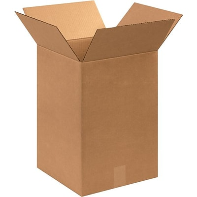 12 x 12 x 18 Shipping Boxes, 32 ECT, Brown, 25/Bundle (121218)