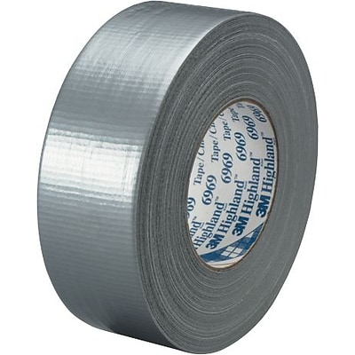 3M™ #6969 Duct Tape, Silver, 2 x 60 yds., 3/Pack