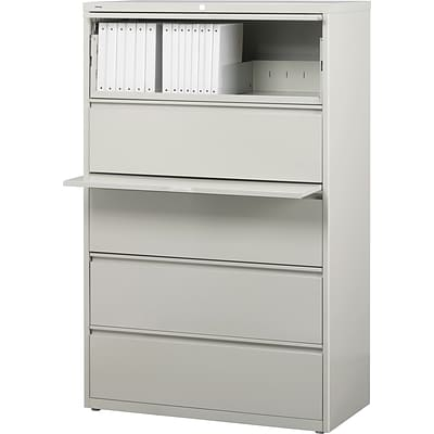 HL8000 5-Drawer Commercial Lateral File Cabinets, Light Gray, 36 Wide (18193)