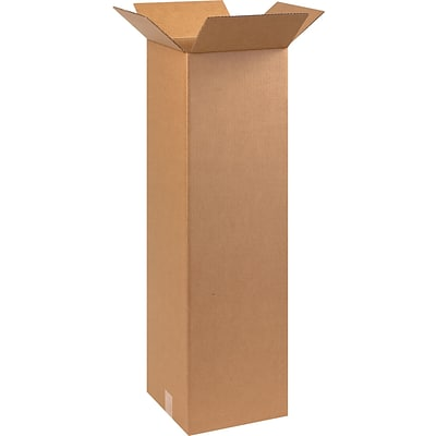 10(L) x 10(W) x 30(H) Shipping Boxes, 32 ECT, Brown, 25 /Bundle(101030)