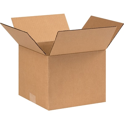 9 x 9 x 8 Shipping Boxes, 32 ECT, Brown, 25/Bundle (998)