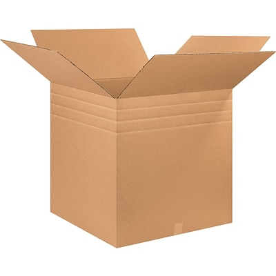 26(L) x 26(W) x 26(H) Multi Depth Shipping Boxes, 32 ECT, Brown, 10 /Bundle(MD262626)