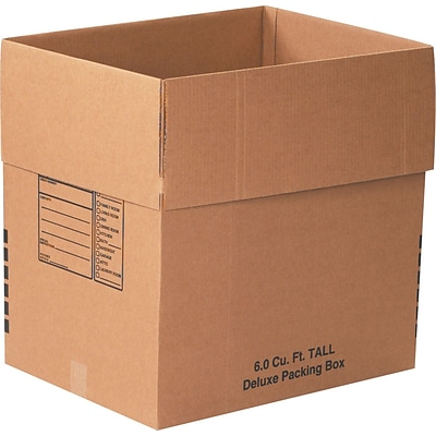24 x 18 x 24 Deluxe Moving Boxes, 32 ECT, Brown, 10/Bundle (241824DPB)