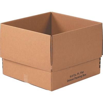 24 x 24 x 18 Deluxe Moving Boxes, 32 ECT, Brown, 10/Bundle (242418DPB)