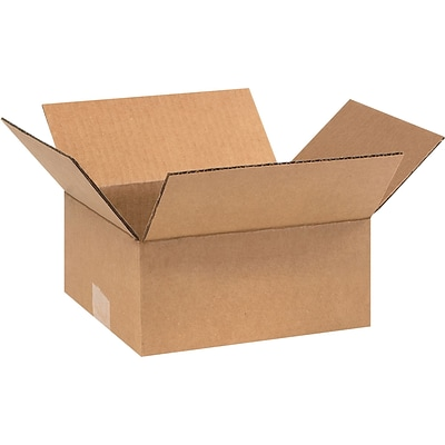 9 x 8 x 4 Shipping Boxes, 32 ECT, Brown, 25/Bundle (984)