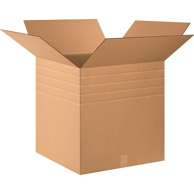 24(L) x 24(W) x 24(H) Multi Depth Shipping Boxes, 32 ECT, Brown, 10 /Bundle(MD242424)