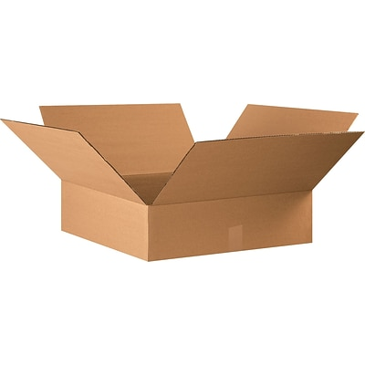 22(L) x 22(W) x 6(H) Shipping Boxes, 32 ECT, Brown, 15/Bundle (22226)