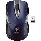 Logitech M525 Wireless Optical Mouse, Ambidextrous, Blue/Grey (910-002698)