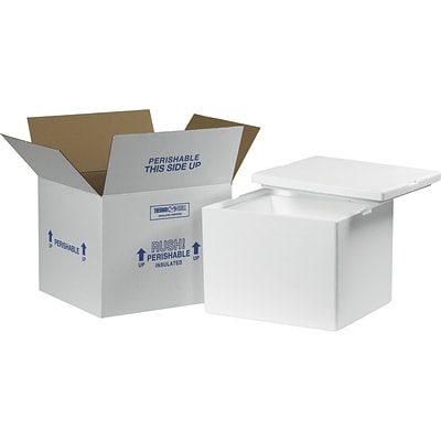 12 x 10 x 9 Insulated Shipping Containers, 32 ECT, White, Each (229C)