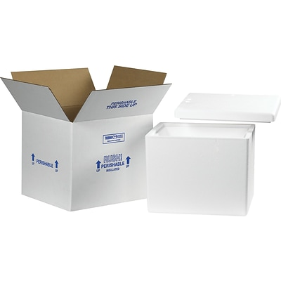 13.75 x 11.75 x 11.87 Insulated Shipping Containers, 32 ECT, White, Each (238C)